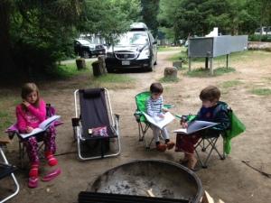 camping - journal writing, 7-2013