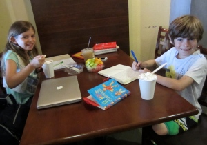 """Reading and Writing at our """"summer reading place"""""""